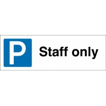 Staff Only Parking Signs