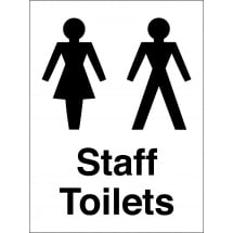 Staff Toilets Signs