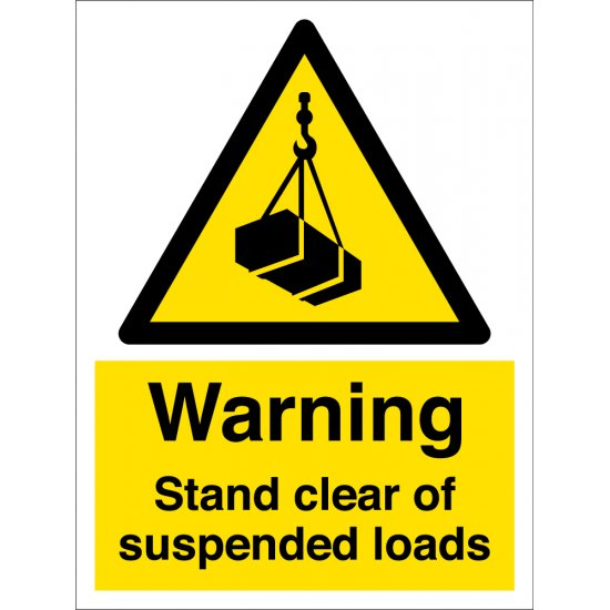 Stand Clear Of Suspended Loads Signs