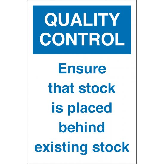 Stock Placed Behind Existing Stock Signs