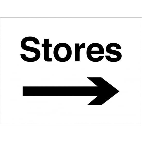Stores Arrow Right Signs