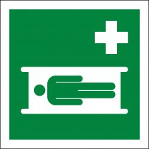 Stretcher First Aid Signs