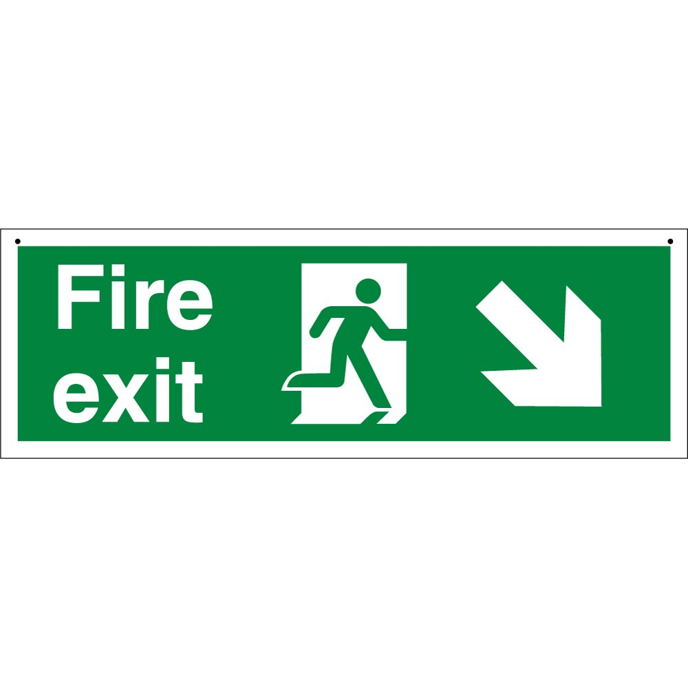 Suspended Fire Exit Signs From Key Signs Uk