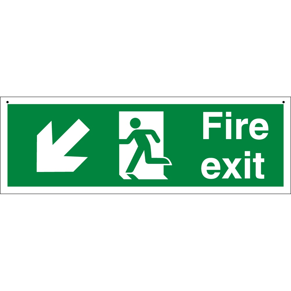 Fire Exit Sign : Suspended fire exit signs from key uk