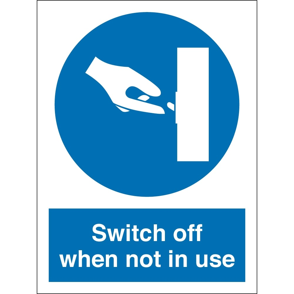 Switch Off When Not In Use Signs - from Key Signs UK