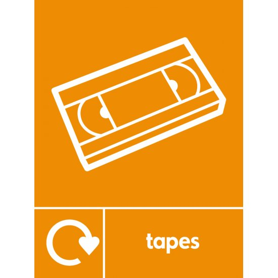 Tapes Recycling Signs