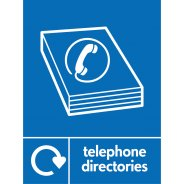 Telephone Directories Recycling Signs