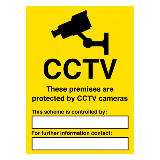 These Premises Are Protected By CCTV Cameras Signs