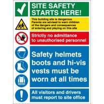 This Building Site Is Dangerous Signs