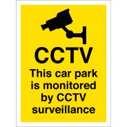 This Car Park Is Monitored By CCTV Surveillance Signs