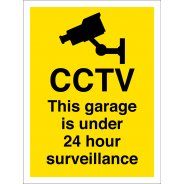 This Garage Is Under 24 Hour Surveillance Signs