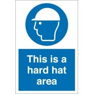 This Is A Hard Hat Area Signs
