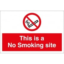 This Is A No Smoking Site Signs