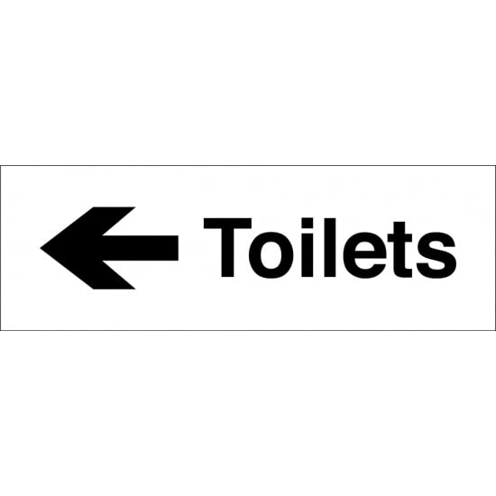 Toilets Arrow Left Signs