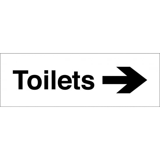 Toilets Arrow Right Signs