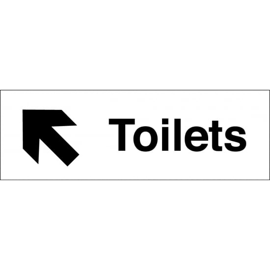 Toilets Arrow Up Left Signs
