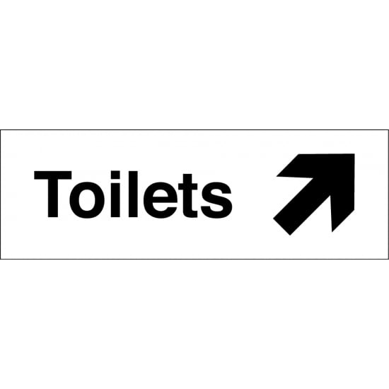 Toilets Arrow Up Right Signs