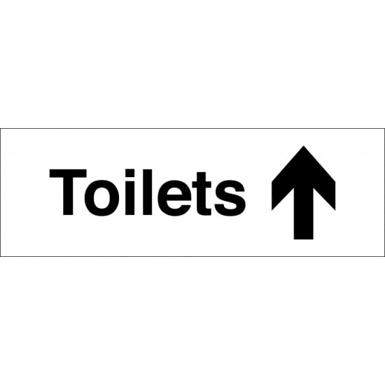 Toilets Arrow Up Signs