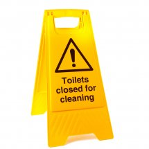 Toilets Closed For Cleaning Floor Stands
