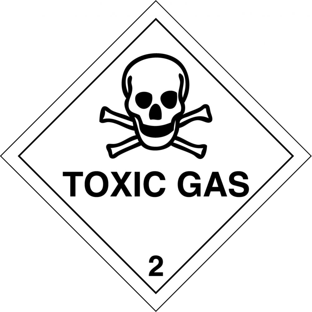 Toxic gas 2 labels from key signs uk toxic gas 2 labels biocorpaavc Images