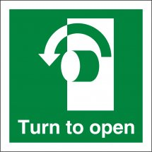 Turn Left To Open Signs