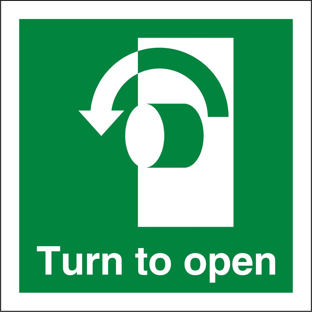 turn left to open signs from key signs uk