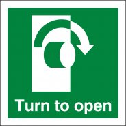Turn Right To Open Signs