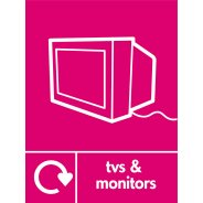 TVs And Monitors Waste Recycling Signs