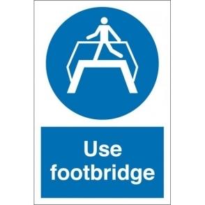 Use Footbridge Signs
