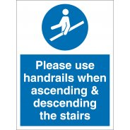 Use Handrails On Stairs Signs