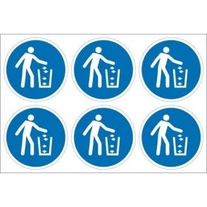 Use Litter Bin Labels