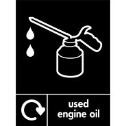 Used Engine Oil Waste Recycling Signs