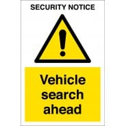 Vehicle Search Ahead Signs