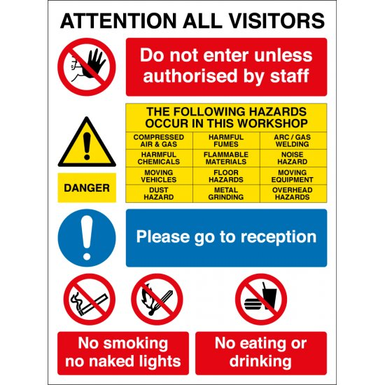 Vehicle Workshop Safety Signs