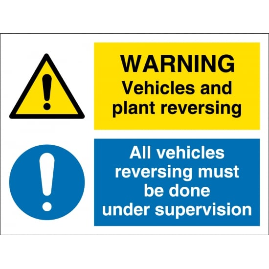 Vehicles And Plant Reversing Signs