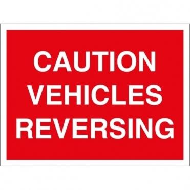 Vehicles Reversing Signs
