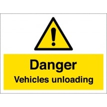 Vehicles Unloading Signs