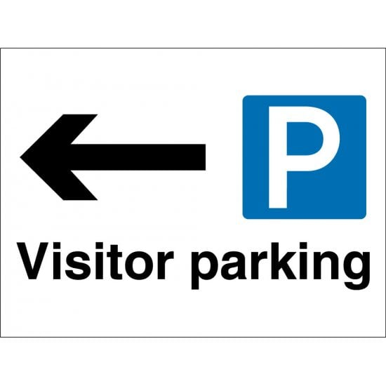 Visitor Parking Arrow Left Signs