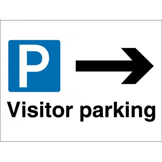 Visitor Parking Arrow Right Signs