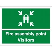 Visitors Fire Assembly Point Signs