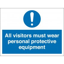 Visitors Must Wear Personal Protective Equipment Signs