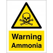Warning Ammonia Signs