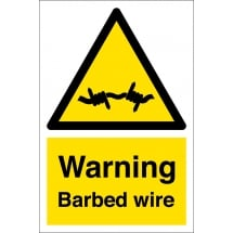 Warning Barbed Wire Signs