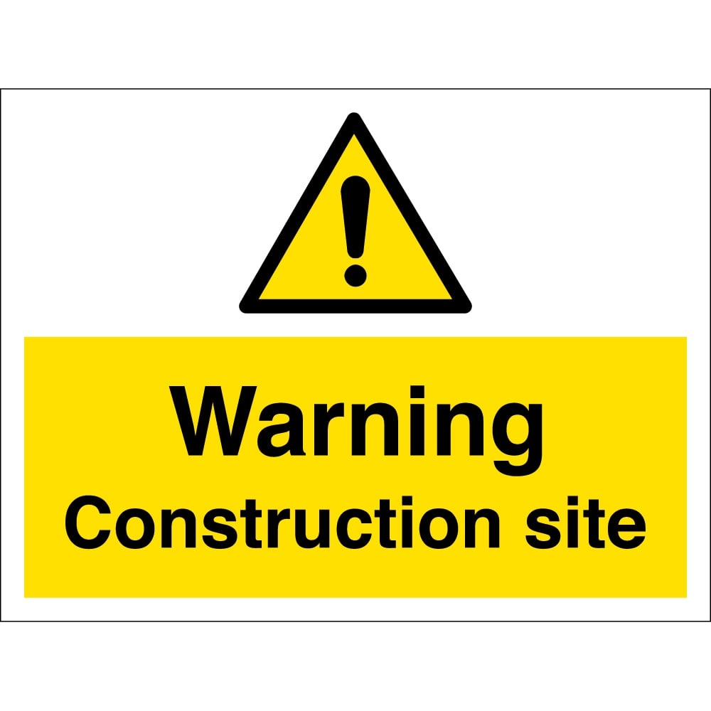 Warning Construction Site Signs - from Key Signs UK
