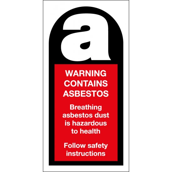 Warning Contains Asbestos Signs