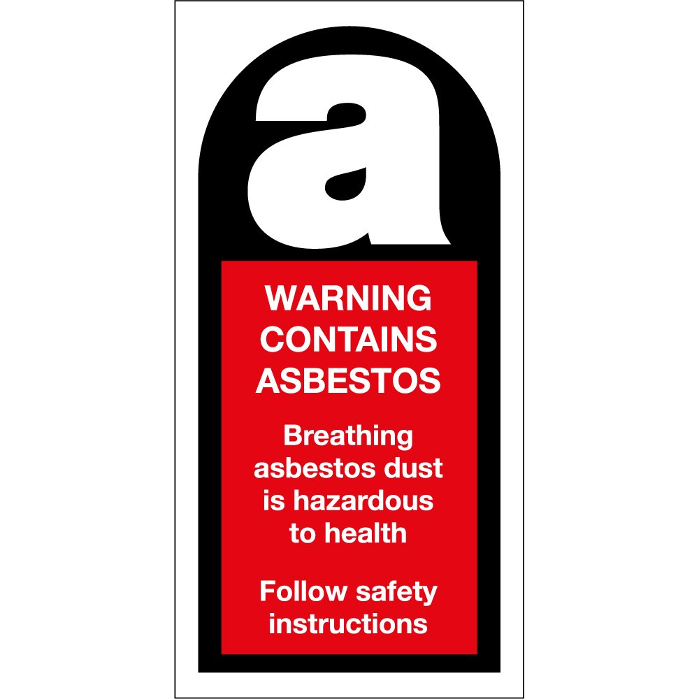 warning contains asbestos signs from key signs uk. Black Bedroom Furniture Sets. Home Design Ideas