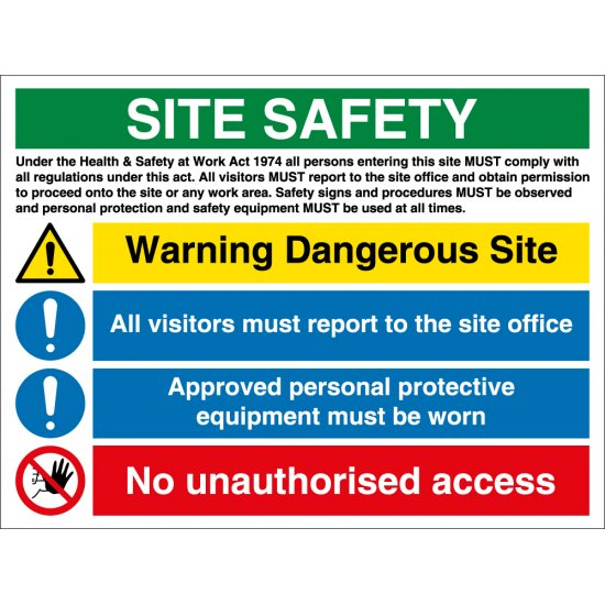 Warning Dangerous Site Safety Signs