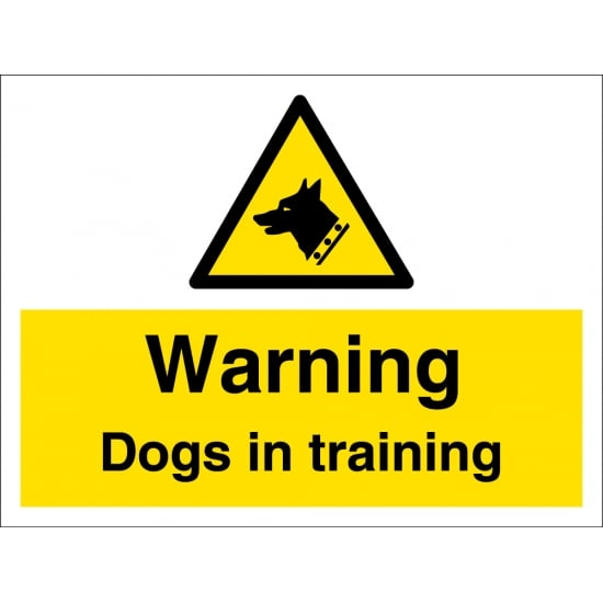 Warning Dogs In Training Signs From Key Signs Uk