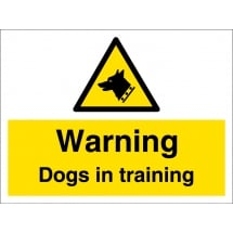 Warning Dogs In Training Signs