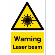 Warning Laser Beam Signs